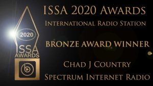 ISSA 2020 Bronze award to Chad J Country